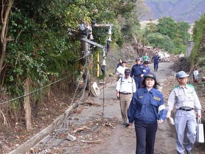 伊豆大島の土石流災害